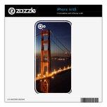 Puente Golden Gate de los promontorios de Marin Calcomanías Para iPhone 4S