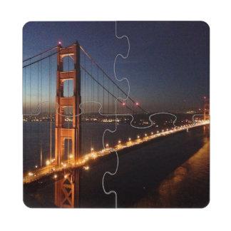 Puente Golden Gate de los promontorios de Marin Posavasos De Puzzle