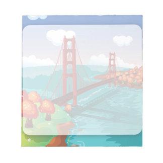 Puente Golden Gate de San Francisco Bloc De Notas