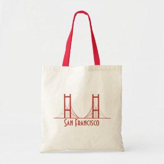 Puente Golden Gate de San Francisco California Bolsa Tela Barata