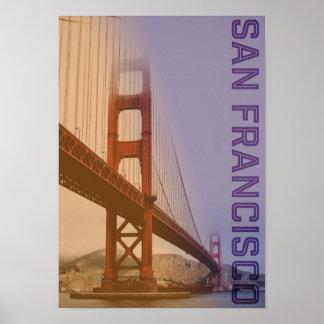 Puente Golden Gate de San Francisco de los estados Póster