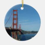 Puente Golden Gate de San Francisco Adorno Redondo De Cerámica
