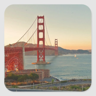 Puente Golden Gate de San Francisco Pegatina Cuadrada