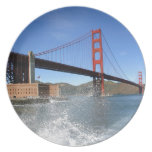 Puente Golden Gate de San Francisco Platos Para Fiestas