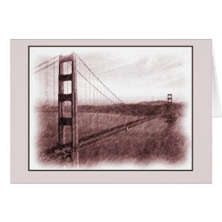 Puente Golden Gate de San Francisco Tarjeta Pequeña