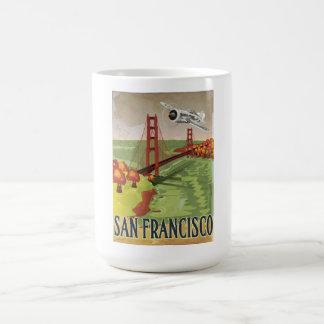 Puente Golden Gate de San Francisco Taza Básica Blanca