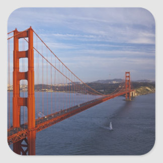 Puente Golden Gate del Marin Pegatina Cuadrada