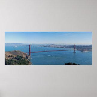 Puente Golden Gate del poster del panorama de la b