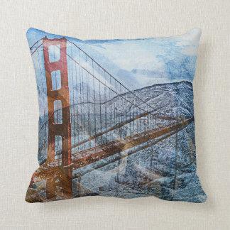 Puente Golden Gate del Puente-UNo-Lito de San Fran Cojines