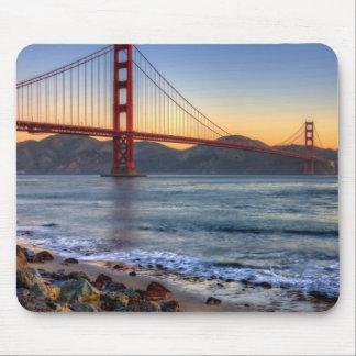Puente Golden Gate del rastro de San Francisco Bay Mouse Pad