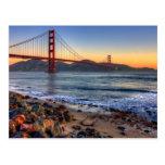 Puente Golden Gate del rastro de San Francisco Bay Tarjetas Postales