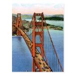 Puente Golden Gate del vintage Tarjetas Postales