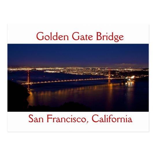 Puente Golden Gate después del panorama de la pues Postal