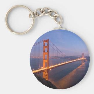 Puente Golden Gate en el llavero de la puesta del