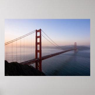 Puente Golden Gate en la impresión/el poster de la