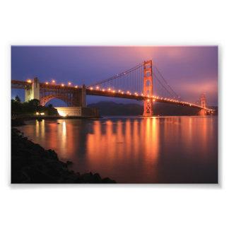 Puente Golden Gate en la noche Arte Fotográfico