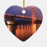 Puente Golden Gate en la noche Ornamento Para Reyes Magos