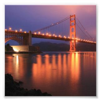 Puente Golden Gate en la noche Fotos