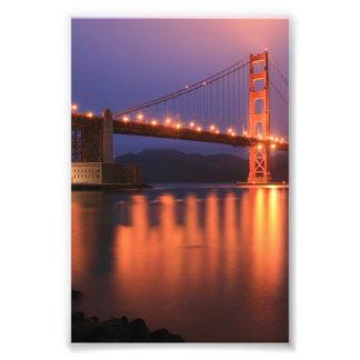 Puente Golden Gate en la noche Impresión Fotográfica