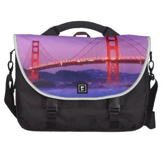Puente Golden Gate en la playa del panadero en el  Bolsas De Portátil
