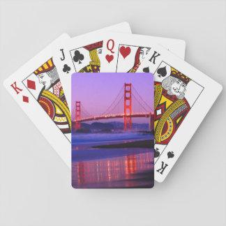 Puente Golden Gate en la playa del panadero en el  Cartas De Póquer