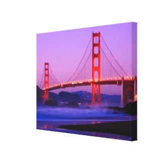 Puente Golden Gate en la playa del panadero en el  Lona Envuelta Para Galerias