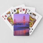 Puente Golden Gate en la playa del panadero en el  Baraja De Póquer