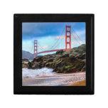 Puente Golden Gate en la puesta del sol Cajas De Joyas
