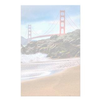 Puente Golden Gate en la puesta del sol Papelería De Diseño