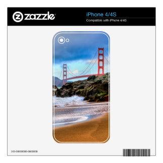 Puente Golden Gate en la puesta del sol Skin Para El iPhone 4