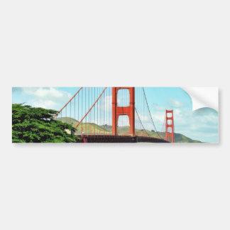 Puente Golden Gate en San Francisco Etiqueta De Parachoque