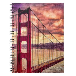Puente Golden Gate en San Francisco, California Cuaderno