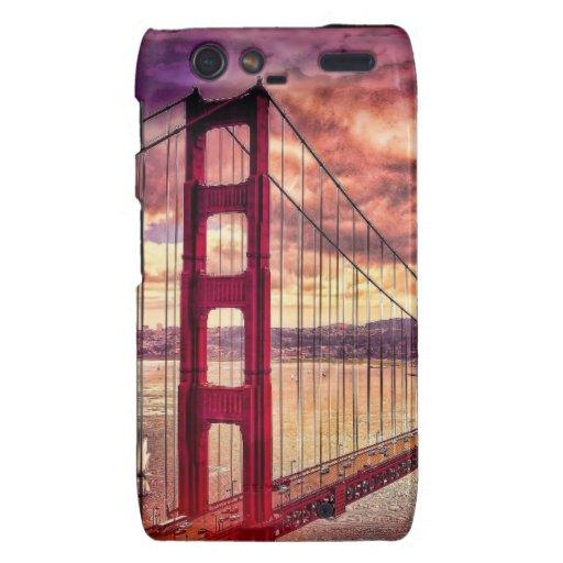 Puente Golden Gate en San Francisco, California Droid RAZR Fundas
