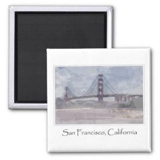 Puente Golden Gate en San Francisco California Imán Cuadrado
