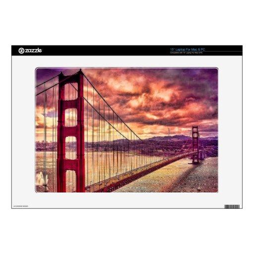 Puente Golden Gate en San Francisco, California Portátil Skin
