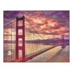 Puente Golden Gate en San Francisco, California Impresión En Madera