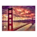Puente Golden Gate en San Francisco, California Postales