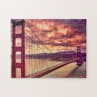 Puente Golden Gate en San Francisco, California Rompecabeza Con Fotos
