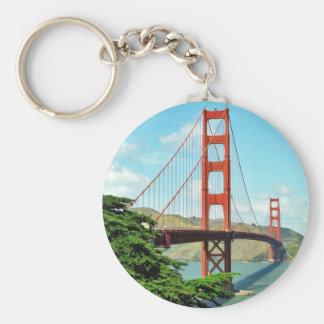 Puente Golden Gate en San Francisco Llavero Redondo Tipo Pin