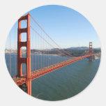 Puente Golden Gate en San Francisco Pegatina Redonda