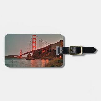 Puente Golden Gate en Sun abajo Etiqueta De Equipaje