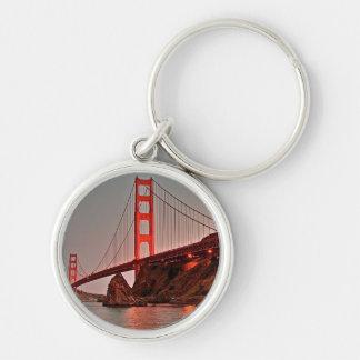 Puente Golden Gate en Sun abajo Llavero