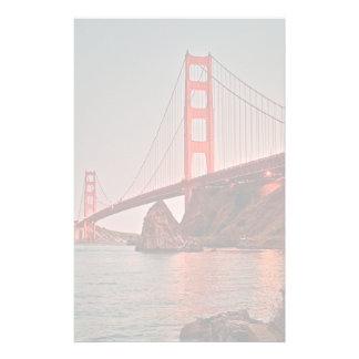 Puente Golden Gate en Sun abajo Papelería Personalizada