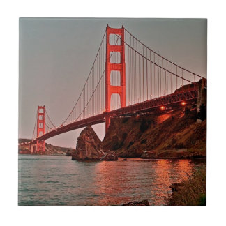 Puente Golden Gate en Sun abajo Teja