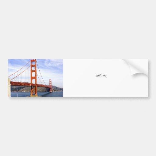 Puente Golden Gate Etiqueta De Parachoque