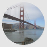 Puente Golden Gate Etiquetas Redondas