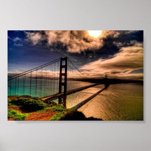 Puente Golden Gate hermoso Poster