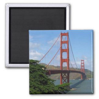 Puente Golden Gate Imán Cuadrado
