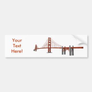 Puente Golden Gate modelo 3D Pegatina De Parachoque
