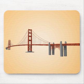 Puente Golden Gate: modelo 3D: Mousepad Alfombrillas De Ratón